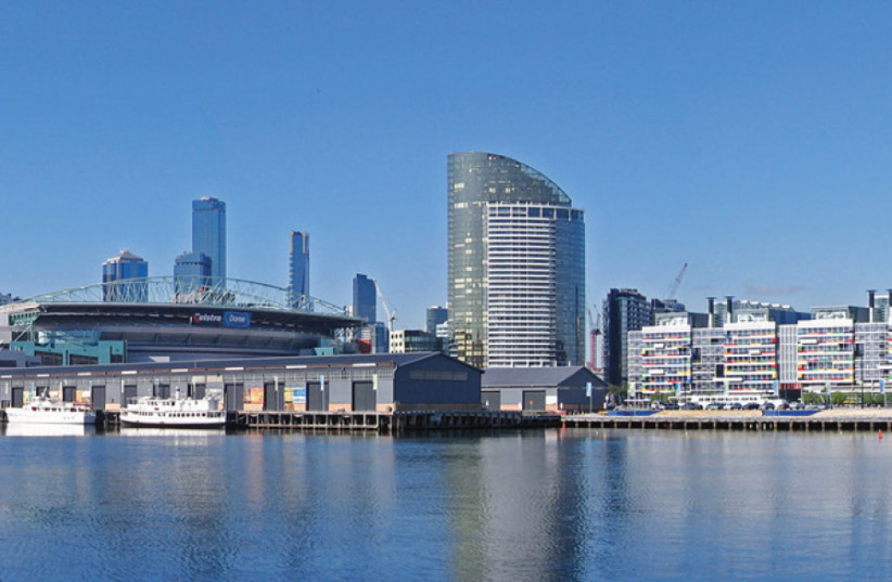 A view of the Melbourne Docklands and the city skyline from Waterfront City, looking across Victoria Harbour (photo credit: Wikimedia Commons)