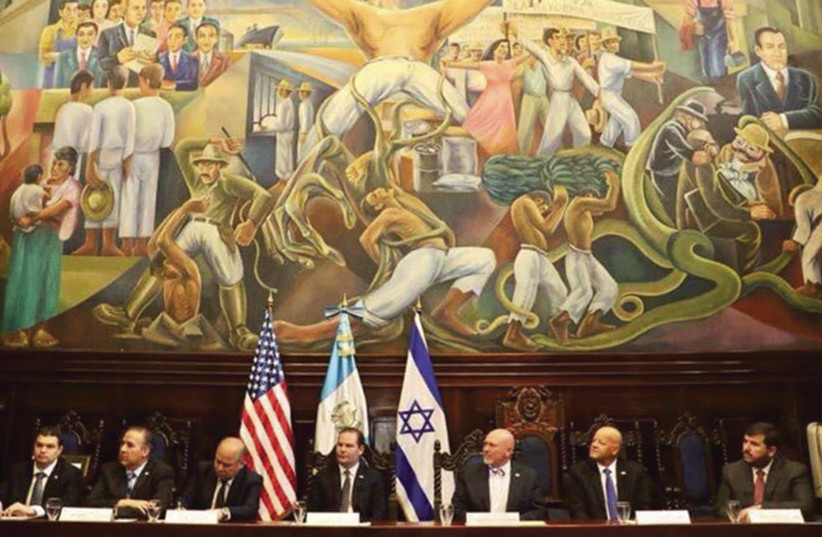 The Israel Allies Foundation holds a conference on antisemitism in the Congress of Guatemala. (photo credit: ISRAEL ALLIES FOUNDATION)