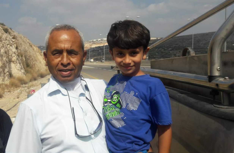 Kidnapped boy Karim Jumhour after his release July 13, 2018 (photo credit: Courtesy)