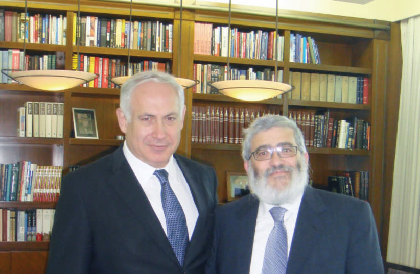 Benjamin Netanyahu, Joseph Gutnick (photo credit: EZRA LANDAU)