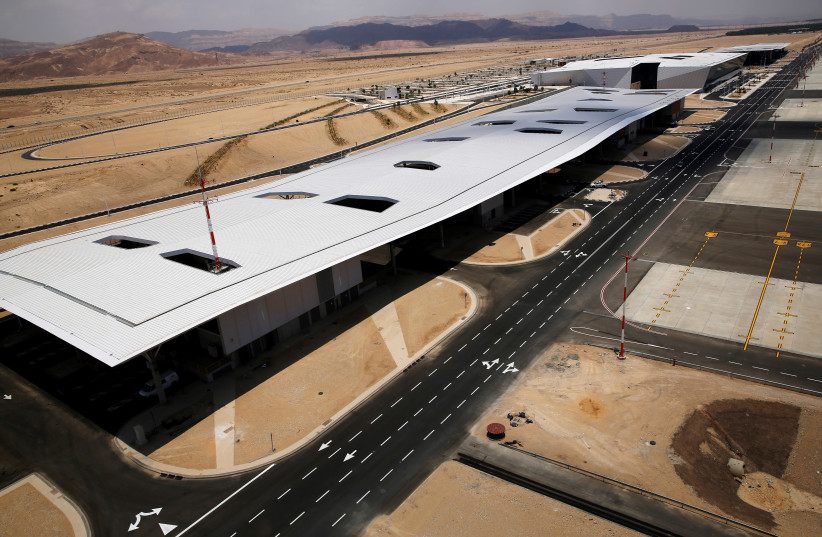 A general view of the new Ramon International Airport in Timna Valley, north to Eilat, Israel, June 13, 2018.  (photo credit: AMIR COHEN/REUTERS)