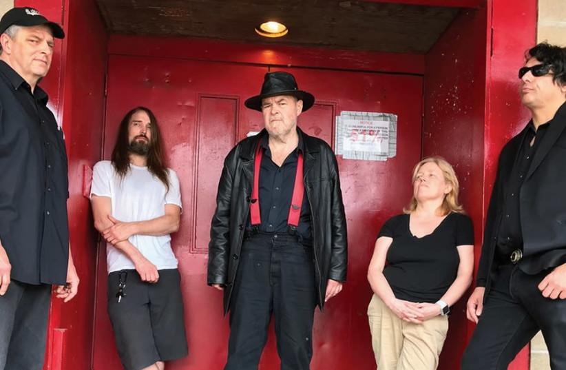 DAVID THOMAS (center) with his band mates in Pere Ubu (photo credit: Courtesy)
