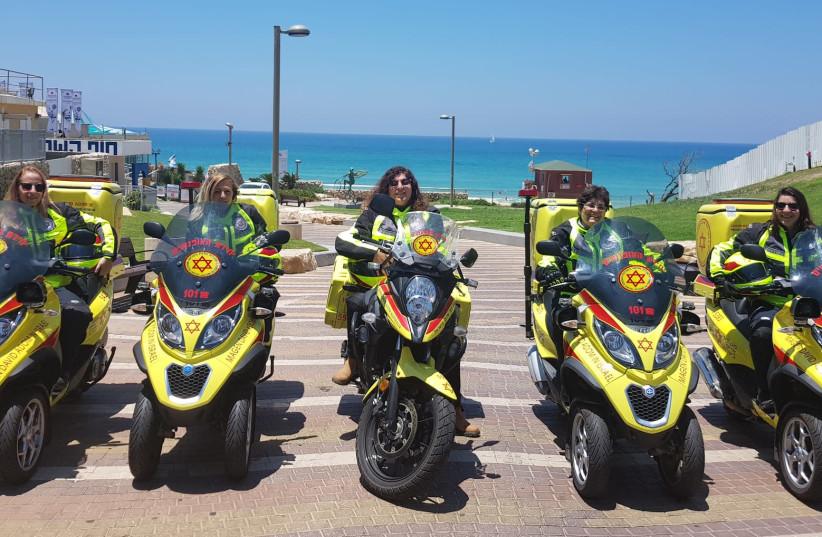 MDA's first female motorcyclists   (photo credit: MDA)