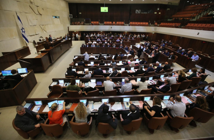 The Knesset votes on the nation-state bill, July 19, 2018 (photo credit: MARC ISRAEL SELLEM)