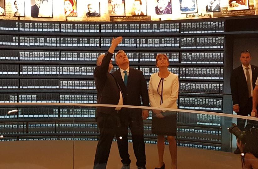 Hungarian Prime Minister visits Yad Vashem, July 19, 2018 (photo credit: YANIR COZIN / MAARIV)