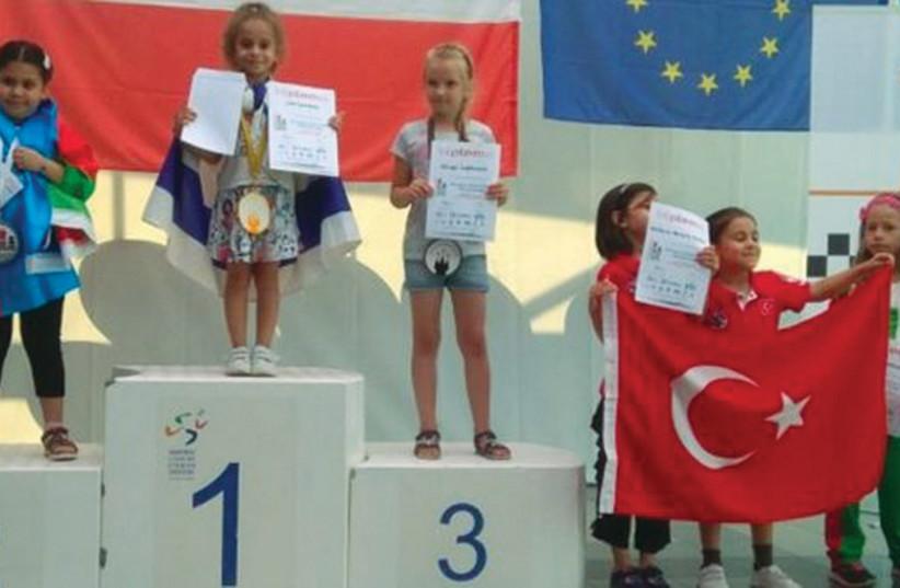 JUNIOR CHESS champion Liel Levitan wins the gold medal.  (photo credit: Courtesy)