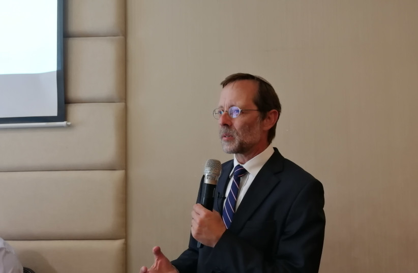 Zehut Party leader Moshe Feiglin at an event of his party in Tel Aviv (photo credit: MOSHE BASOS)
