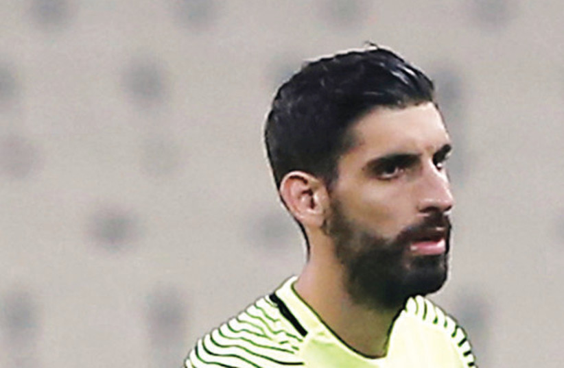 GREEK GOALKEEPER Giannis Anestis was essentially a sieve on Tuesday night in his Hapoel Beersheba debut, as the Israeli champion lost 5-0 to Dinamo Zagreb in the first leg of their Champions League qualifier.  (photo credit: REUTERS)