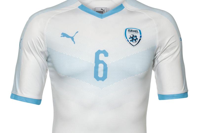 Israel's new soccer uniforms designed by Puma (photo credit: UDI DAGAN)