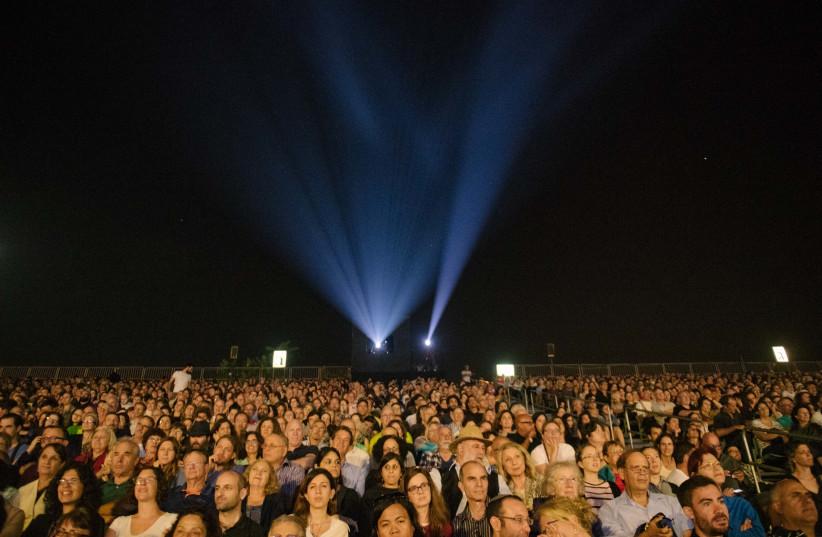 Jerusalem Film Festival opening event at Sultan's Pool, July 28, 2018 (photo credit: NOAM PREISMAN)