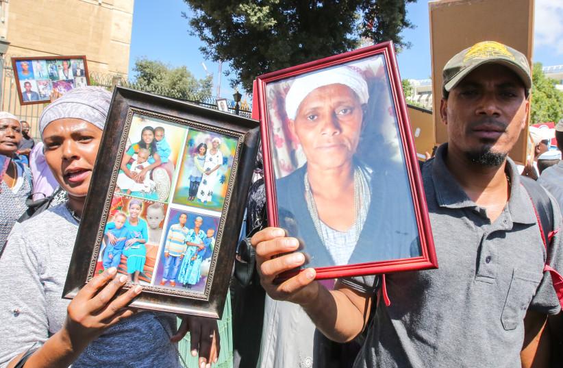 Ethiopian protesters  (photo credit: MARC ISRAEL SELLEM)