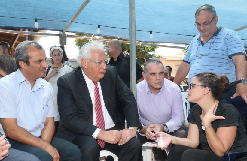 Tal Ovadia (R), Oded Rivivi (C), David Friedman (L) (photo credit: MIRI TZACHI)