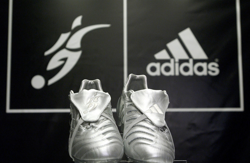 New Adidas cleats on display at New York store, 2005 (photo credit: CHIP EAST / REUTERS)