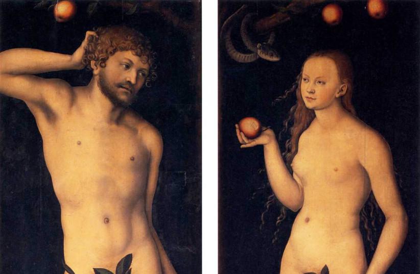 Lucas Cranach the Elder, Adam and Eve (photo credit: Wikimedia Commons)