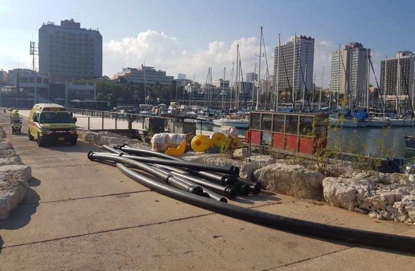 Te Tel Aviv marina, July 30, 2018 (photo credit: MAGEN DAVID ADOM)