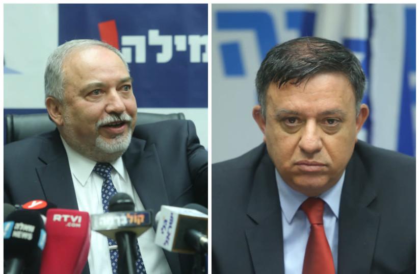 Avigdor Liberman (L) Avi Gabbay (R) (photo credit: MARC ISRAEL SELLEM)