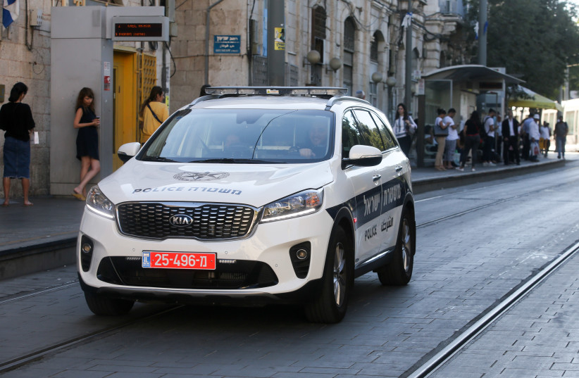 Israel police car (Illustrative) (photo credit: MARC ISRAEL SELLEM/THE JERUSALEM POST)