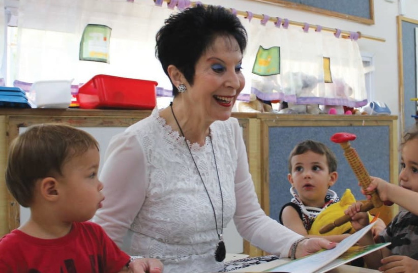 RIVKA LAZOVSKY visits a WIZO day-care center on the first day of school (photo credit: KFIR SIVAN)
