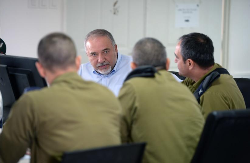 Defense Minister Avigdor Liberman  Thursday, August 2. (photo credit: MINISTRY OF DEFENSE SPOKESPERSON'S OFFICE)