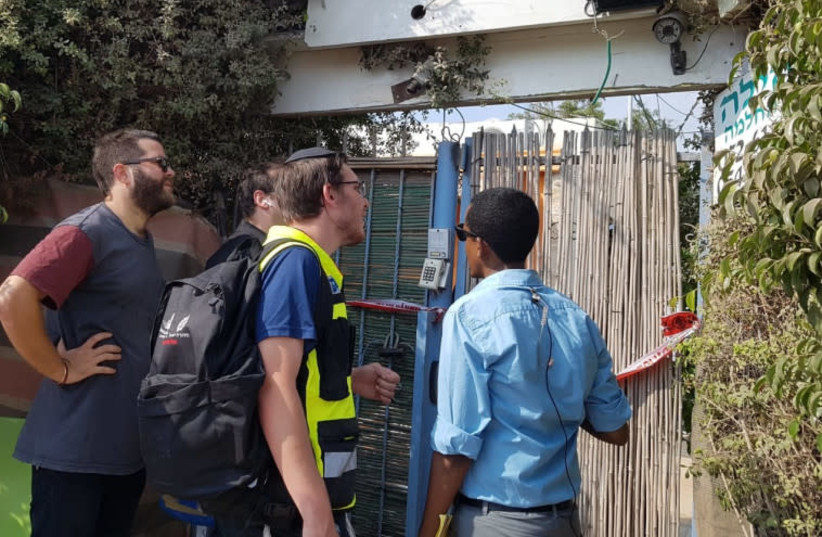 A suspected double murder in Netanya, August 2, 2018 (photo credit: Courtesy)