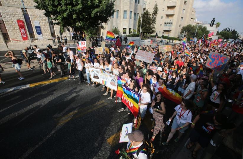 Jerusalem pride parade, 2 August 2018. (photo credit: MARC ISRAEL SELLEM)
