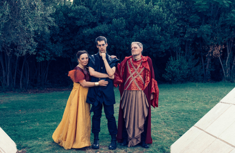 Cast of Shakespeare in the Park (photo credit: YITZ WOOLF)