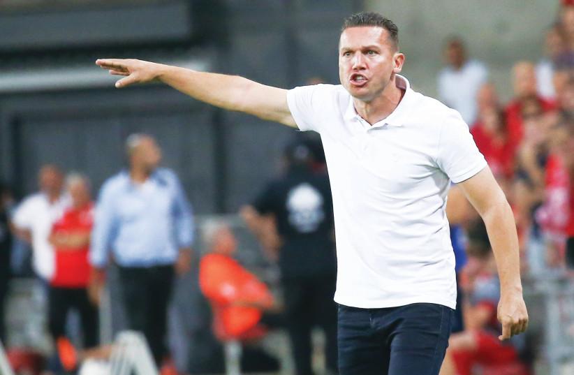 Hapoel Beersheba coach Barak Bachar, 7 August 2018. (photo credit: DANNY MAROM)