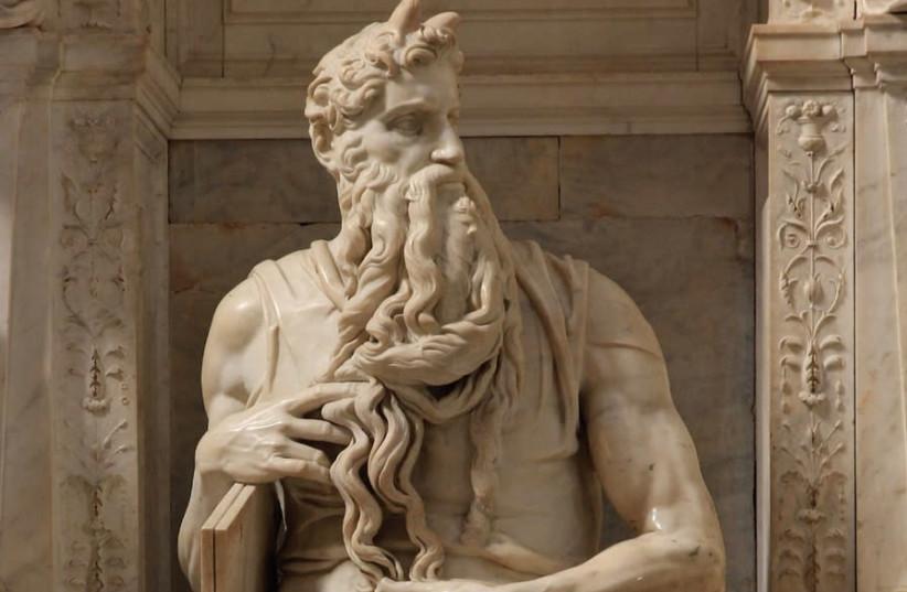'MOSES,' BY Michelangelo Buonarroti, 1513-1515, at San Pietro in Vincoli (Rome) (photo credit: Wikimedia Commons)
