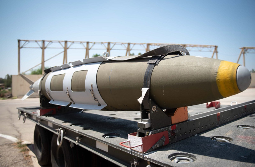 Rocket used by the IAF during tensions at Gaza border in August 2018 (photo credit: IAF)