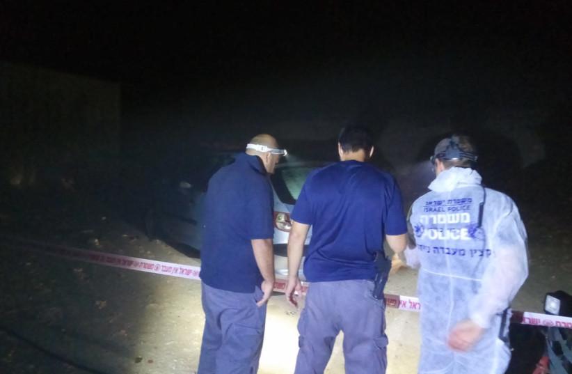 Scene of the crime (photo credit: ISRAEL POLICE)