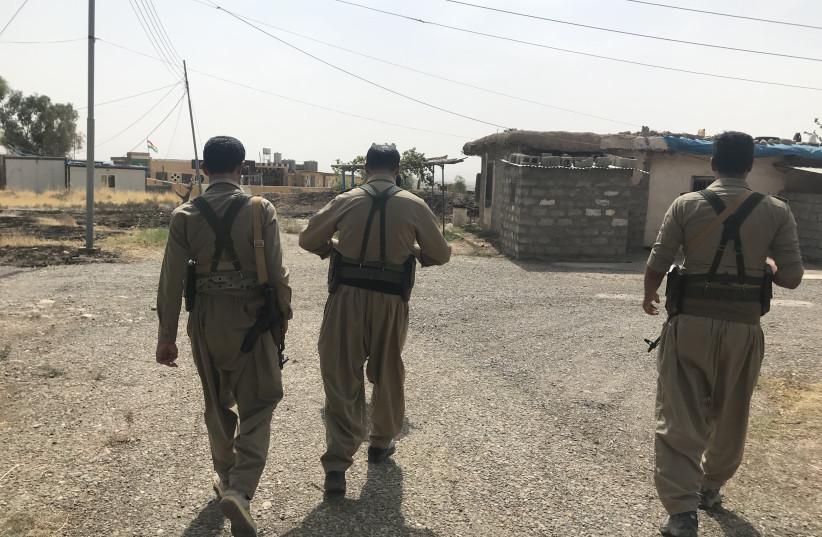 Kurdish PDKI members on patrol near the Iran-Iraq border last year. (photo credit: Courtesy)