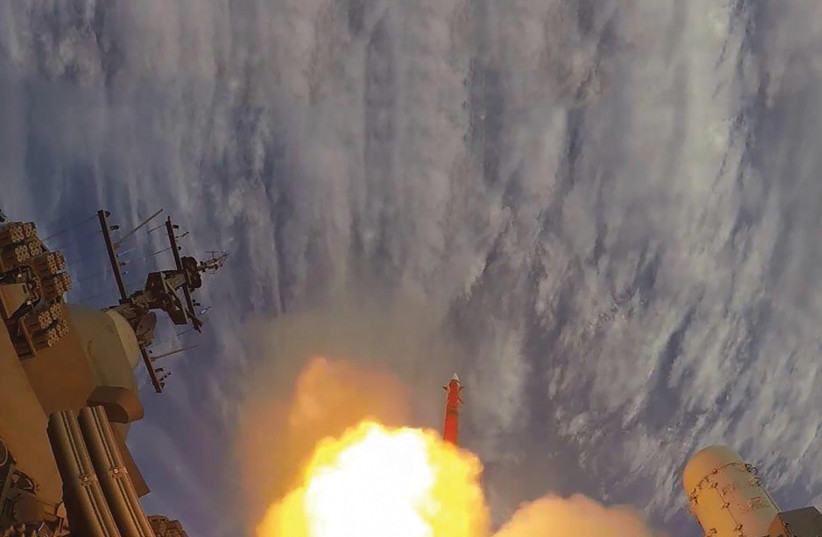 The Barak-8 missile is launched during a test (photo credit: IAI)