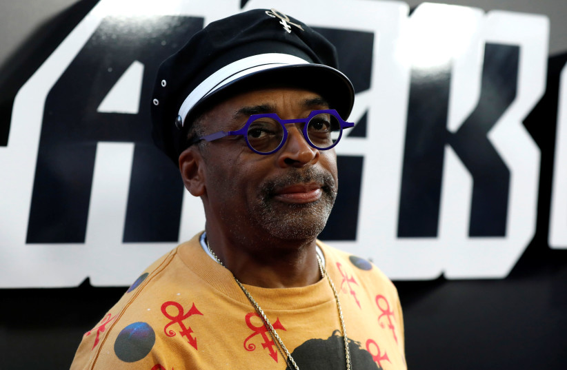 """Director Spike Lee poses at the premiere for """"BlacKkKlansman"""" in Beverly Hills, California, U.S.(August 8, 2018). (photo credit: REUTERS/MARIO ANZUONI)"""