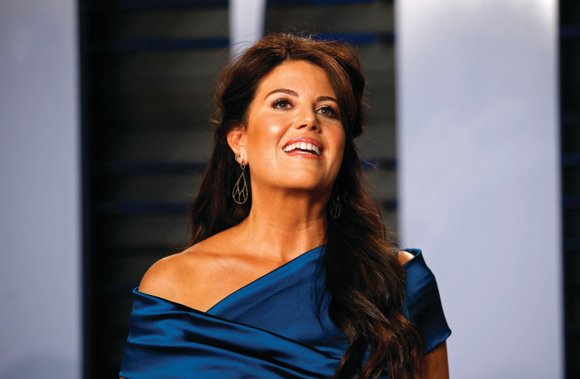 MONICA LEWINSKY arrives at a Vanity Fair Oscar party in Beverly Hills last March (photo credit: DANNY MOLOSHOK/ REUTERS)