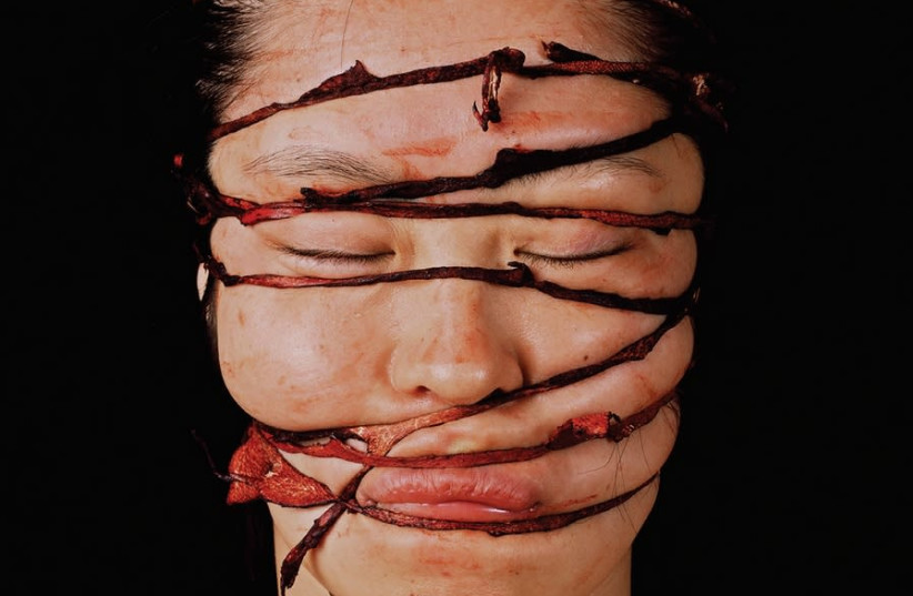 Ryoko Suzuki's 'Blind' series addresses female sexuality and Japanese society's attitude towards women. (photo credit: Courtesy)