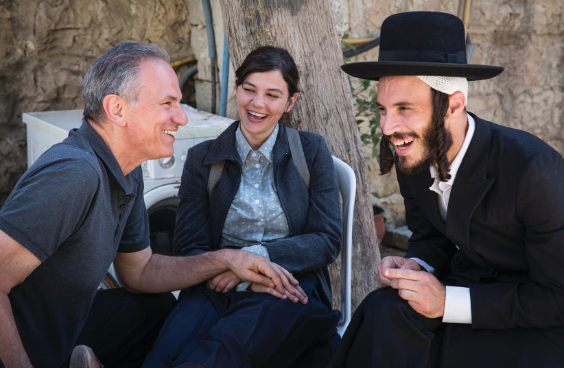 'THE OTHER STORY' director Avi Nesher (left) with actors Joy Rieger and Natan Goshen. (photo credit: MICHAL FATTAL)