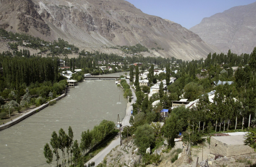 A general view shows the town of Khorog, Tajikistan (photo credit: REUTERS/SHAMIL ZHUMATOV)