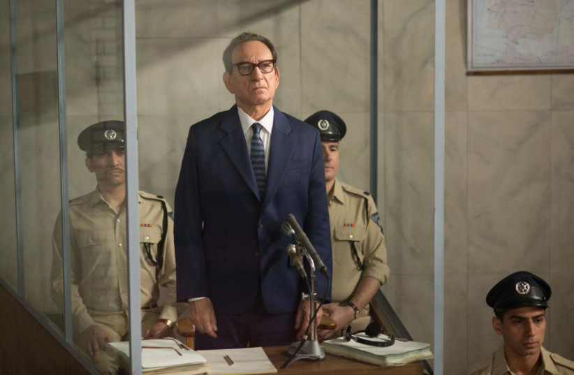 A scene from 'Operation Finale' starring Ben Kingsley as Adolf Eichmann  (photo credit: VALERIA FLORINI/MGM)