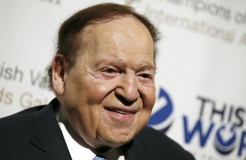 Sheldon Adelson, a casino magnate and major backer of pro-Israel causes. (photo credit: REUTERS)