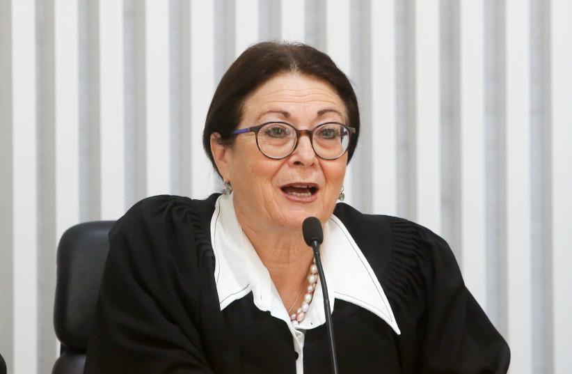 Supreme Court President Esther Hayut  (photo credit: MARC ISRAEL SELLEM)