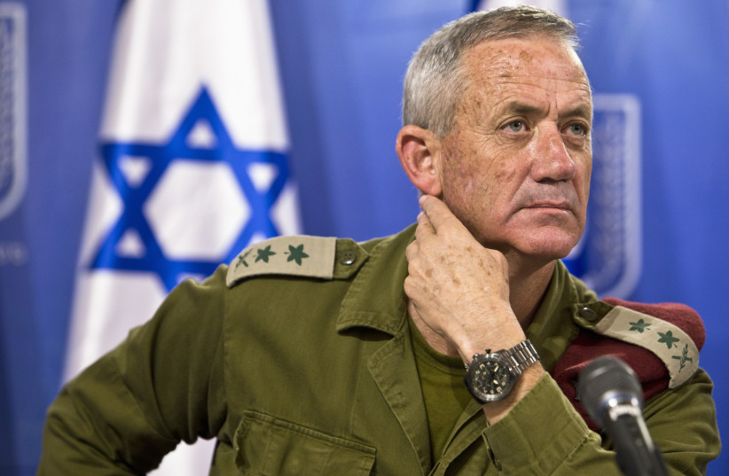 Former IDF chief of staff Benny Gantz (photo credit: REUTERS)