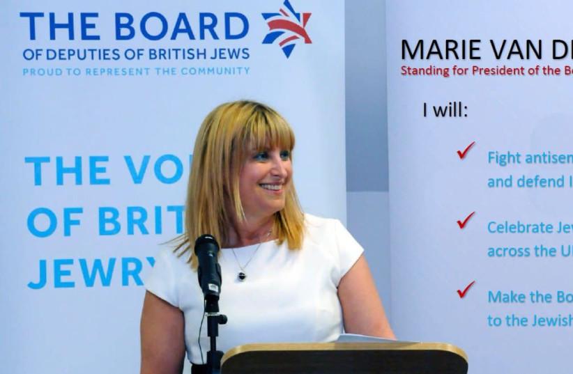 UK Board of Deputies Head Marie van der Zyl. (photo credit: COURTESY UK BOARD OF DEPUTIES)