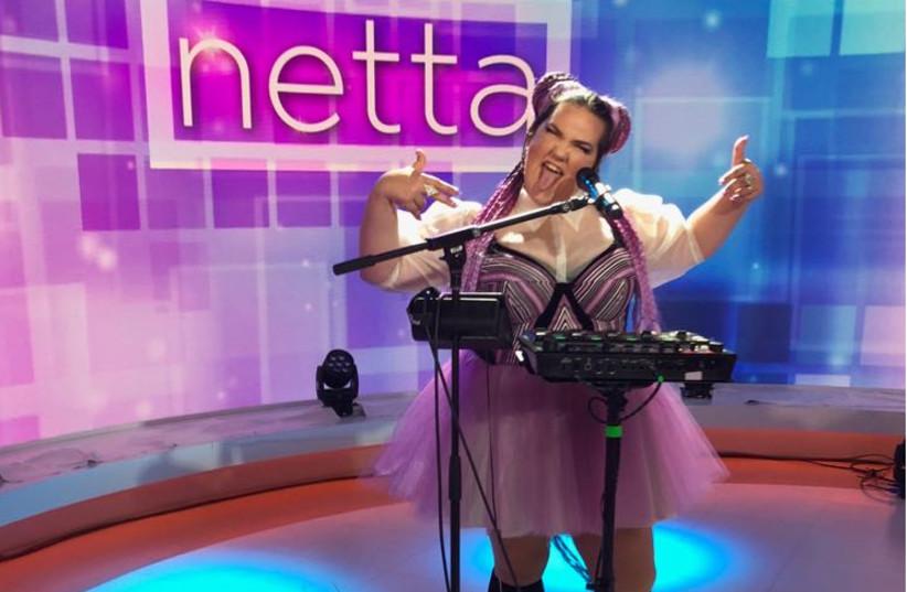Netta Barzilai during a show in NYC (photo credit: COURTESY ITAY BEZALELI)