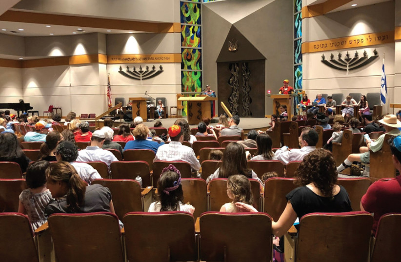 A resconstructed Congregation Beth Yeshurun in Houston (photo credit: Courtesy)