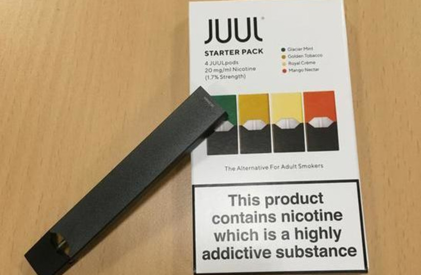 Juul e-cigarette starter pack is seen in this picture illustration taken July 16, 2018 (photo credit: REUTERS)