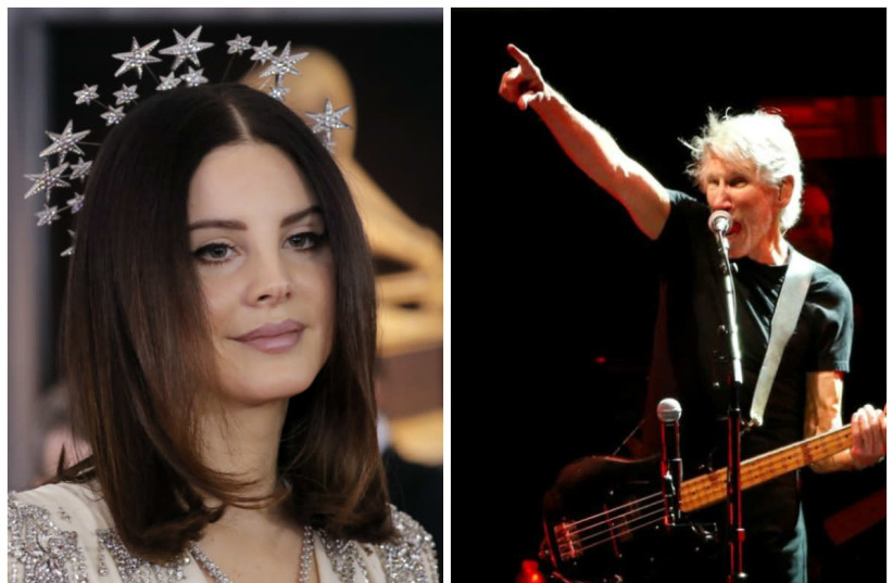 Lana Del Rey (L) and Roger Waters (R) (photo credit: REUTERS)