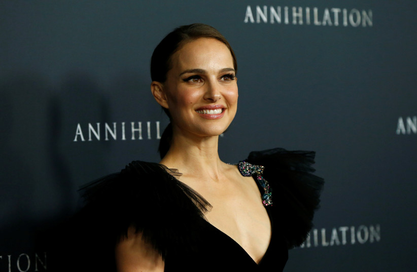 """Cast member Natalie Portman poses at the premiere for """"Annihilation"""" in Los Angeles, California, U.S., February 13, 2018. (Credit: Reuters/Mario Anzuoni) (photo credit: MARIO ANZUONI/REUTERS)"""