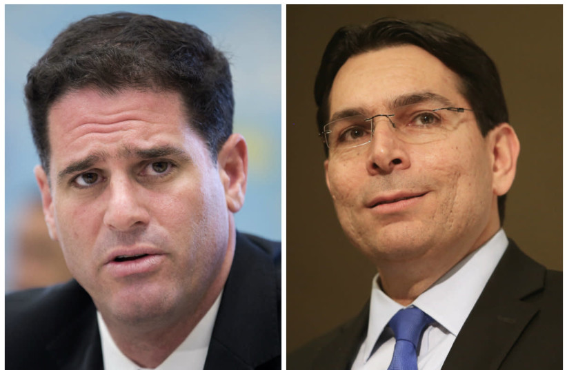 From left to right: Ron Dermer and Danny Dannon (photo credit: MARC ISRAEL SELLEM/REUTERS)