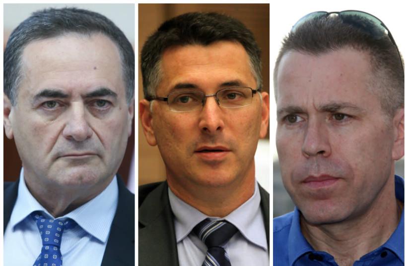 From Left to Right: Israel Katz, Gidon Saar,  Gilad Erdan (photo credit: MARC ISRAEL SELLEM)