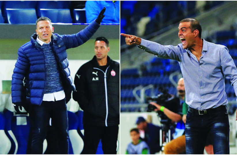 HAPOEL BEERSHEBA coach Barak Bachar (left) and Beitar Jerusalem's Guy Luzon (right) have hopes of leading their respective teams to success this season (photo credit: ERAN LUF/REUTERS)